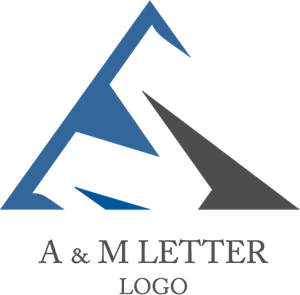 A M Letter Logo Vector