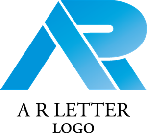 A R Letter Idea Logo Vector