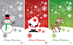 a variety christmas background greeting cards Logo Vector