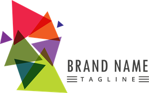 Abstract colorful triangle Logo Vector