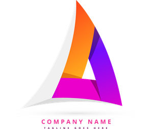 Abstract colorful triangular Logo Vector