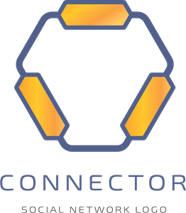 Abstract Connector Logo Vector