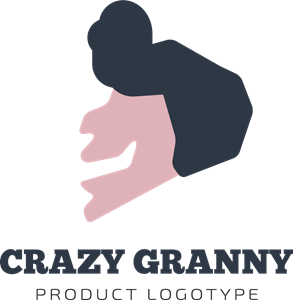 Abstract Crazy Granny Logo Vector