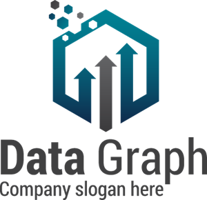 Abstract Data Graph Logo Vector
