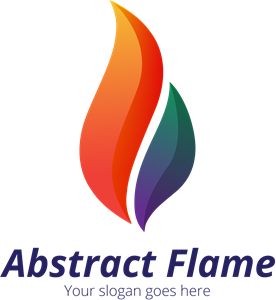 Abstract Flame Logo Vector