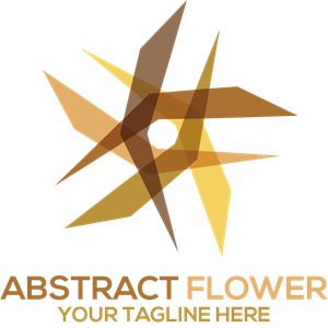 Abstract Flower Shape Logo Vector