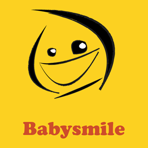 Abstract Funky Baby Smile Logo Vector