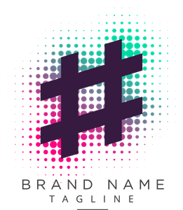 Abstract hashtag Logo Vector