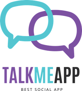 Abstract Talk Me App Logo Vector