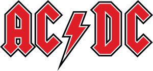 AC DC red Logo Vector