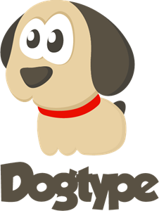 Adorable Comic Dog Logo Vector