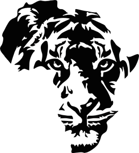 Africa Map Lion Logo Vector