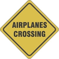 Airplains crossing Logo Vector