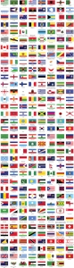 All country world flag Logo Vector