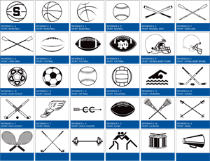 all sports equipment Logo Vector