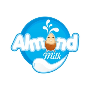 ALMOND MILK Logo Vector