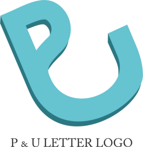 Alphabet P U Design Logo Vector
