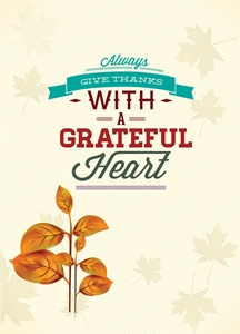 always give thanks happy thanksgiving invitation Logo Vector