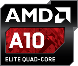 AMD A10 Elite Quad-Core Logo Vector