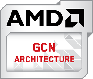 AMD GCN Architecture Logo Vector