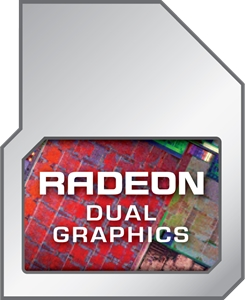 AMD Radeon Dual Graphics Modifier Logo Vector