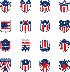 American Flag Colection Logo Vector