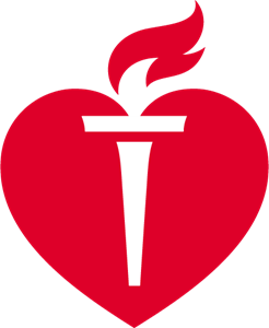 American Heart Association heart Logo Vector