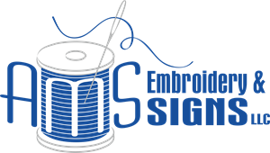 AMS Embroidery & Signs LLC Logo Vector