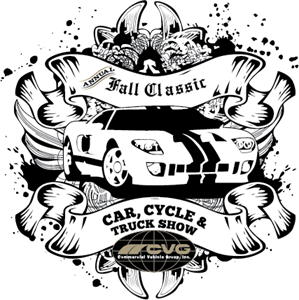Annual Car, Cycle and Truck Show Logo Vector