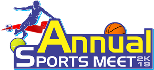 Annual Sports Meet 2k19 Logo Vector