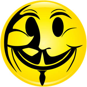 Anonymous Happy Face Logo Vector