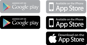 App Store and Google Play Logo Vector
