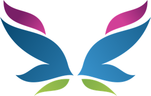 Art Butterfly Logo Vector