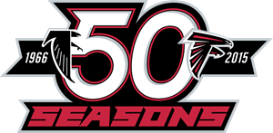 atlanta falcons 50 seasons logo vector ai free download rh seeklogo com New Atlanta Falcon Logo New Atlanta Falcon Logo