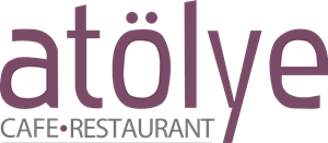 Atölye Restaurant & Cafe Logo Vector