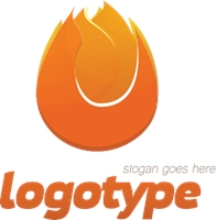 Attractive Fire Logo Vector