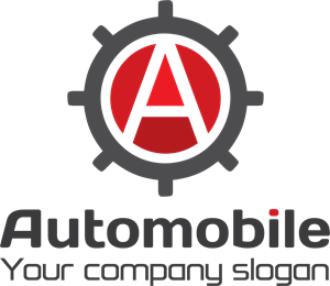 Automobile Gear Letter A Logo Vector