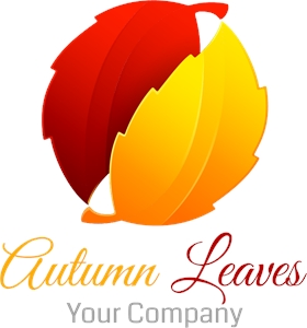 Autumn leaves Logo Vector