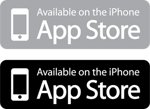 Available on the iPhone App Store Logo Vector