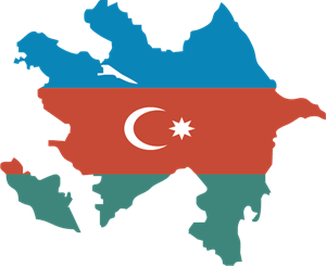 azerbaijan map Logo Vector