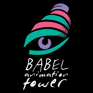 Babel Animation Tower Logo Vector