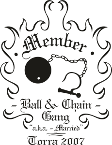 Ball & Chain Logo Vector