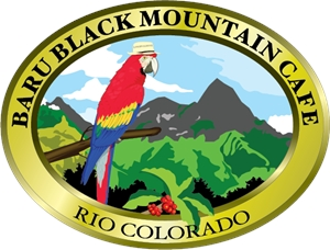 Baru Black Mountain Cafe Logo Vector