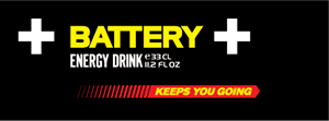 Battery Energy Drink Logo Vector