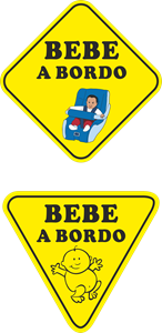 Bebe a bordo Logo Vector