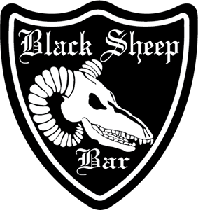 Black Sheep Bar Logo Vector