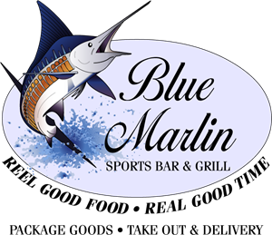 Blue Marlin Cafe Logo Vector