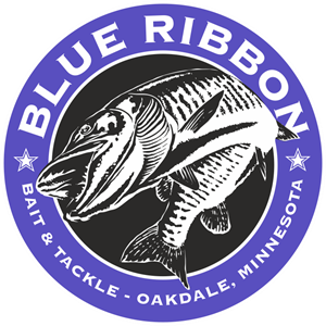 Blue Ribbon Bait & Tackle Logo Vector