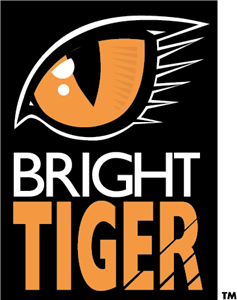 Bright Tiger Logo Vector