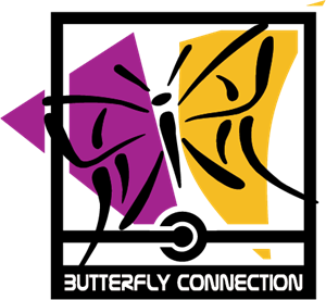 Butterfly Connection Logo Vector